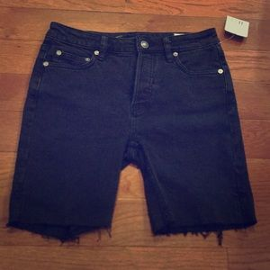 NWT Free People size 25 black cut off shorts